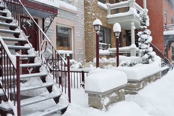 Montréal sous la neige
