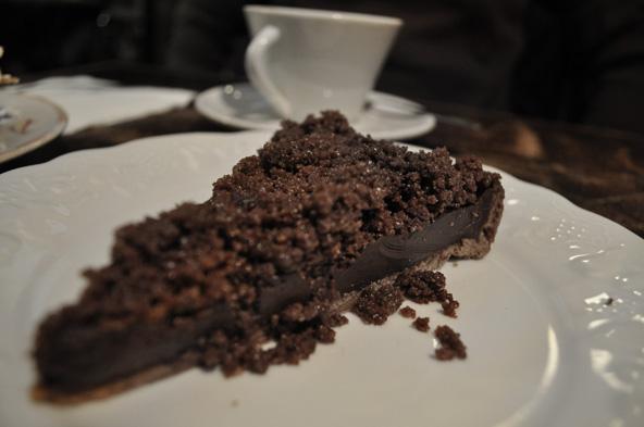 Tarte chocolat-crumble - Loir dans la Théière