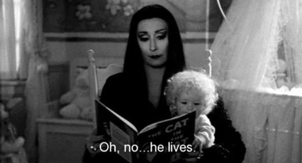 Morticia Addam - The cat in the hat