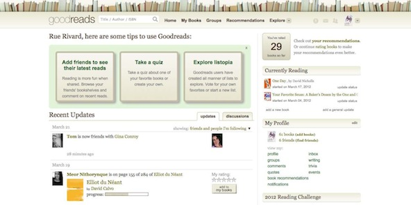 Goodreads - Home