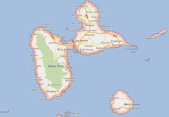 Map Guadeloupe