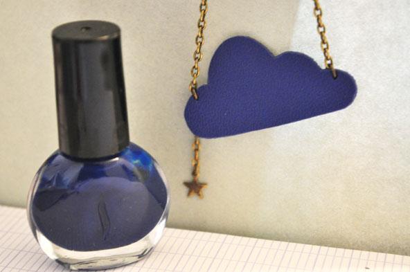 AnneLison - Collier nuage bleu klein