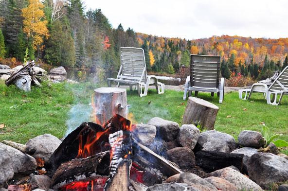 Feu de bois - Chalet Québec