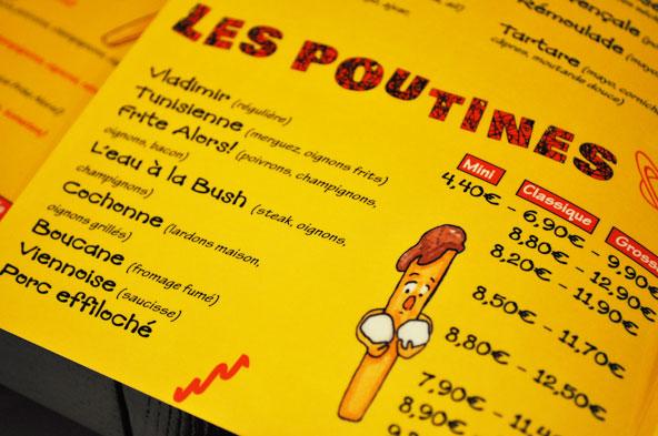Menu - Frite Alors Lyon