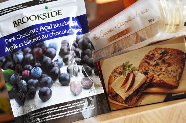 Bleuets au chocolat et craquelins