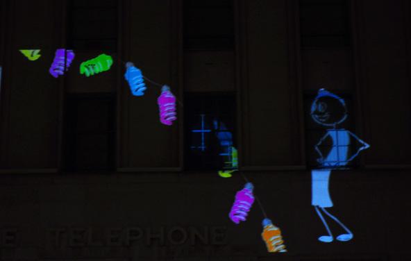 Fête des Lumières 2012 - Le génie des lampes