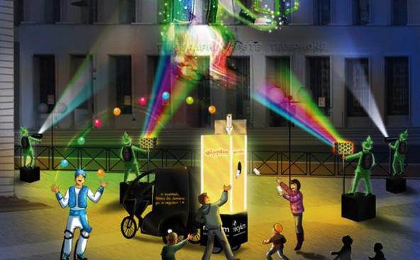 Fête des Lumières 2012 - Le Génie des lampes par Recylum