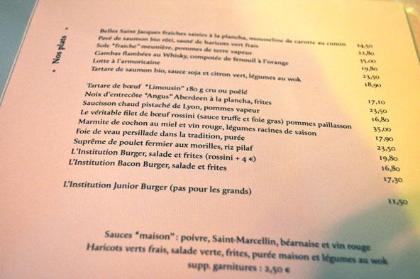 Restaurant L'Institution Lyon