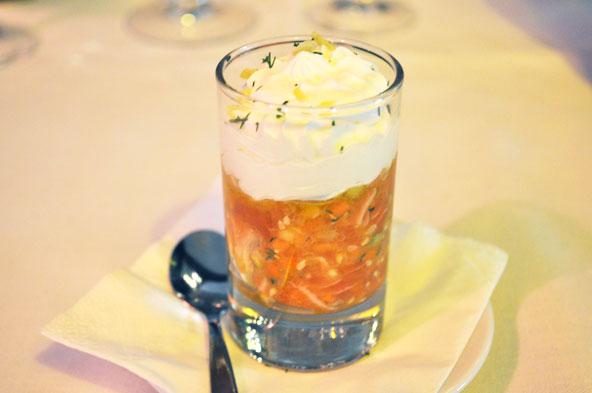 Tartare de saumon - Restaurant L'Institution Lyon