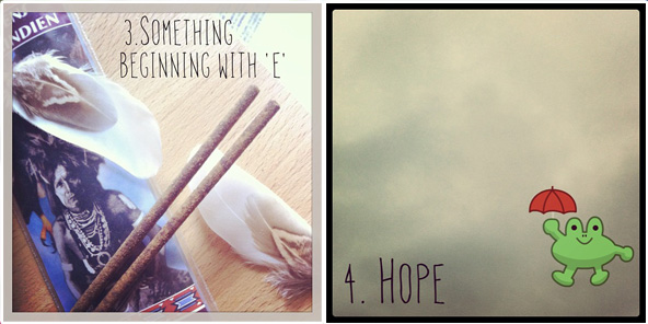 "Something beginning with ""E"" / Hope"