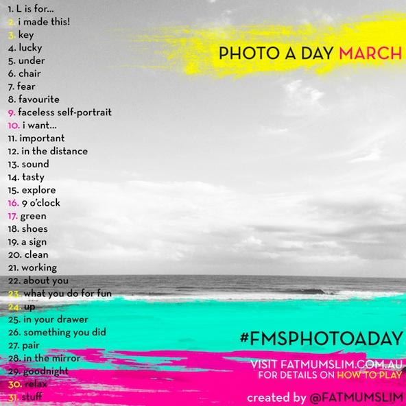 Challenge Photo a Day par Fatmumslim - Mars 2013