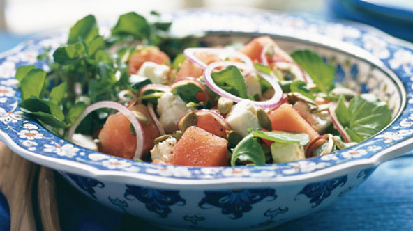 Salade pastèque-feta