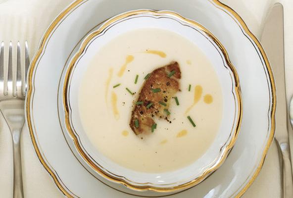 Creme chou-fleur et foie gras