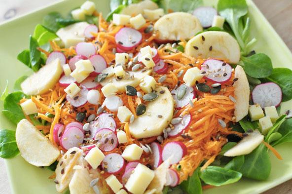 Salade printanière multicolore