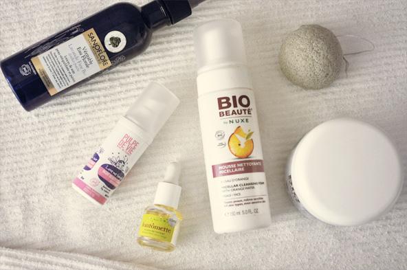 Routine beauté et produits bio