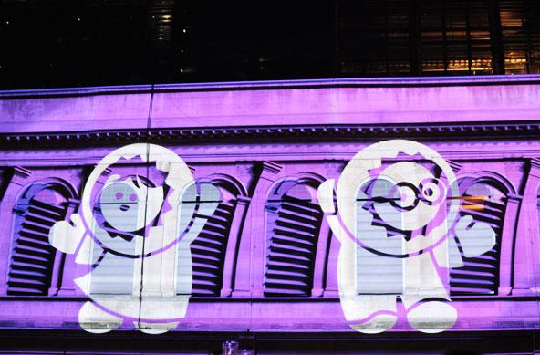 Fête des Lumières 2014 - Les Anooki à l'Opéra