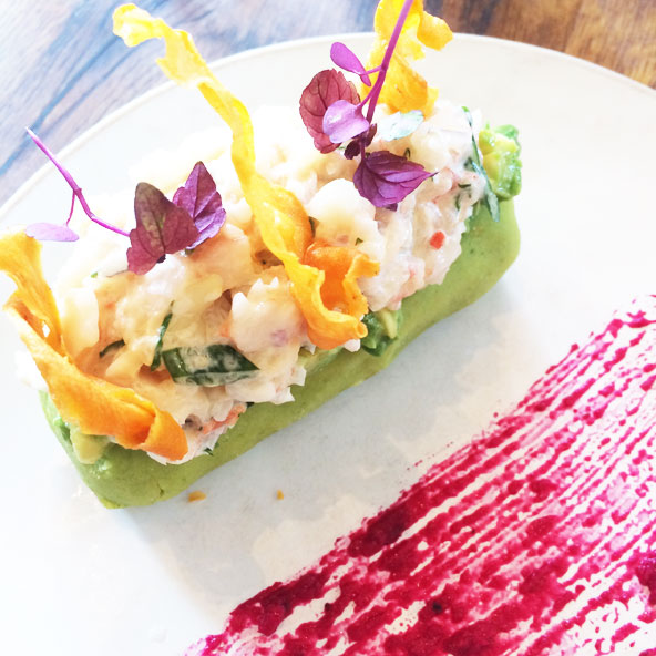 Causa de camarones at Andina - London