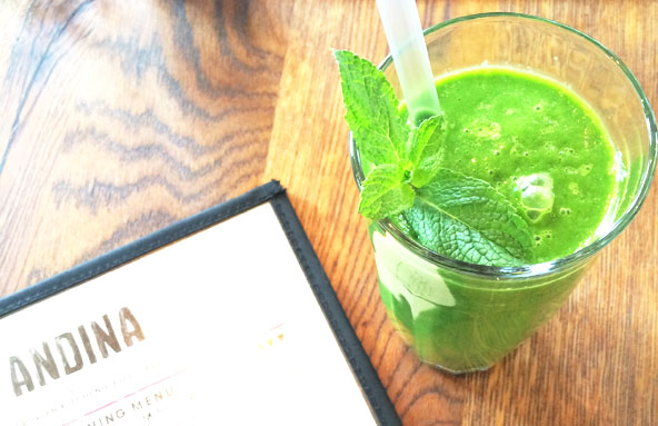 Green Juice at Andina - London