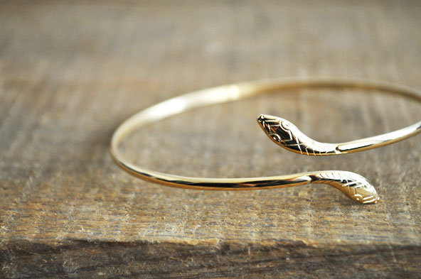 Bracelet jonc serpent Cleor