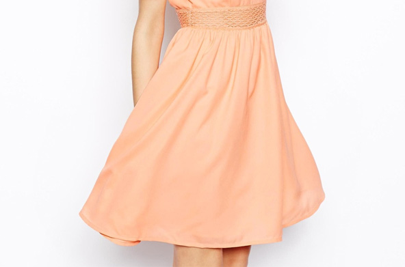 Robe peach Asos
