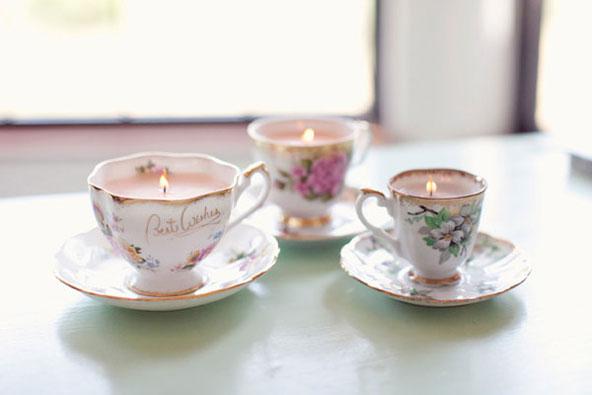 Cadeaux d'invités de mariage - Bougies tasses