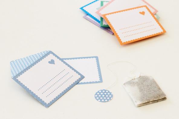 Cadeaux d'invités de mariage - Sachets de thé