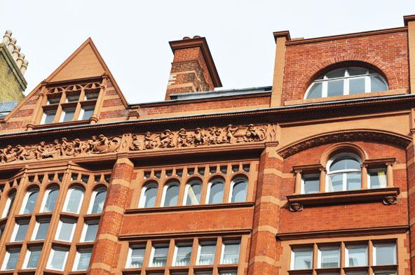 Jolie façade à Londres