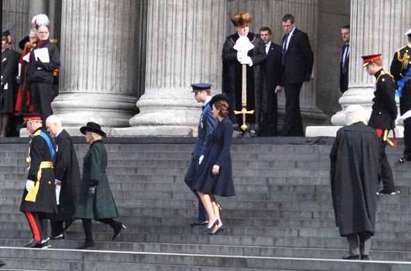 Famille royale à la cathédrale Saint-Paul