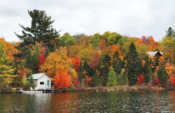 Lac Sarrazin à l'automne ( Québec)