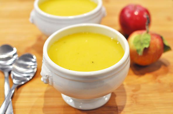 Idées-recettes avec des pommes - Soupe à la courge