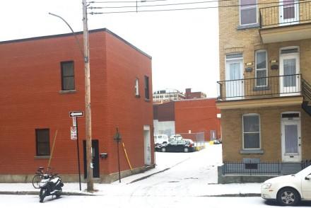Première neige à Montréal