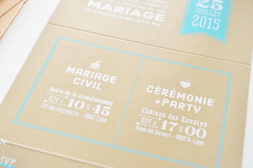 Faire-part de mariage Rue Rivard