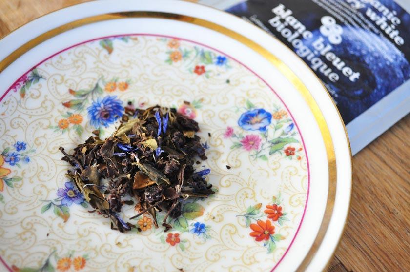Thé blanc bleuet organique David's Tea