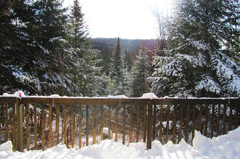 Chalet au Québec en hiver