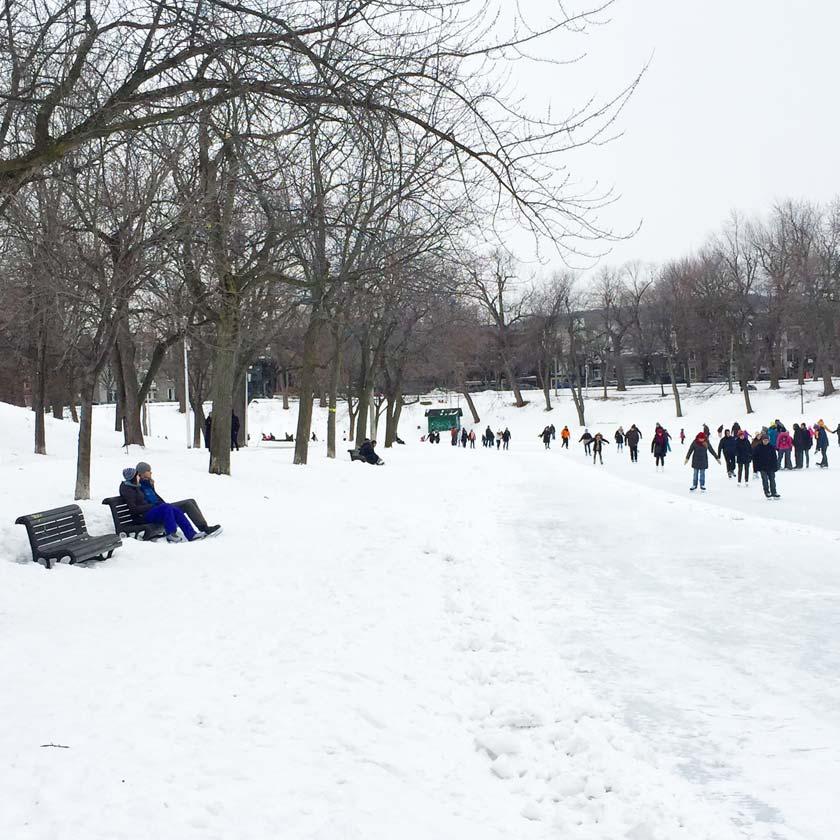 Parc Lafontaine en hiver (Montréal)