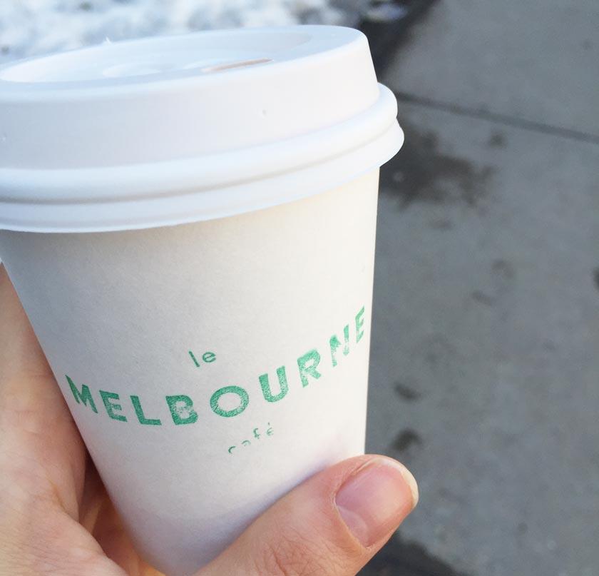 Chocolat chaud Café Melbourne (Montréal)