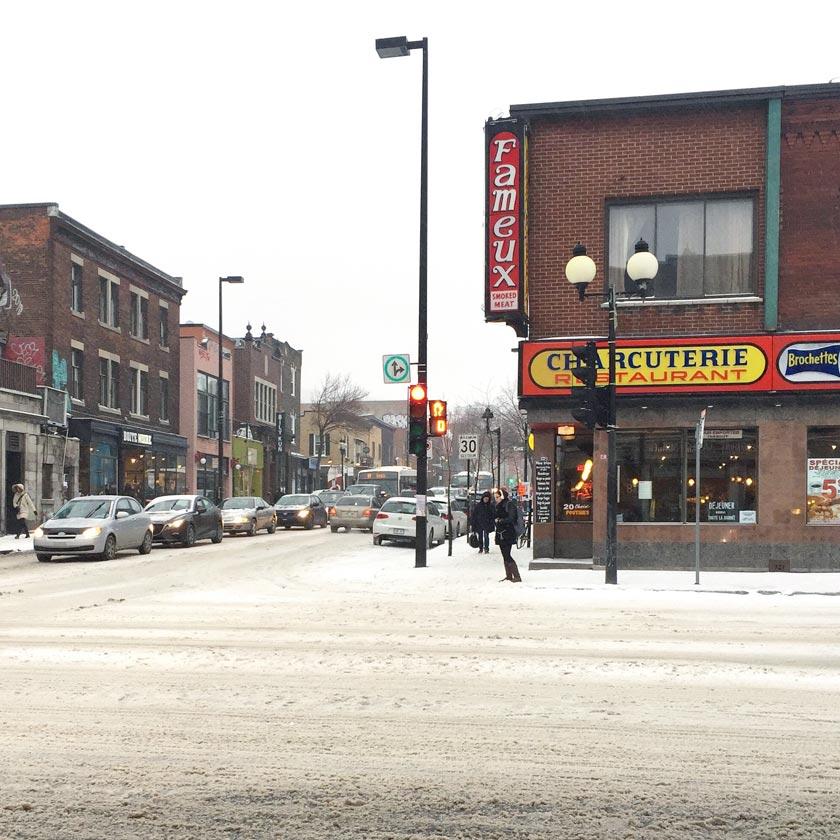 Neige en mars à Montréal