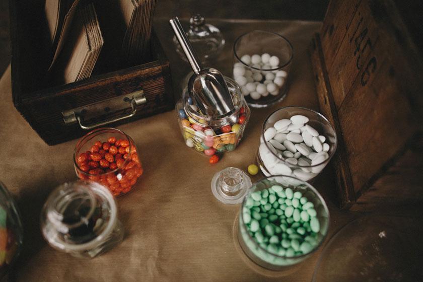Bar à bonbons mariage avec Violette & Berlingot