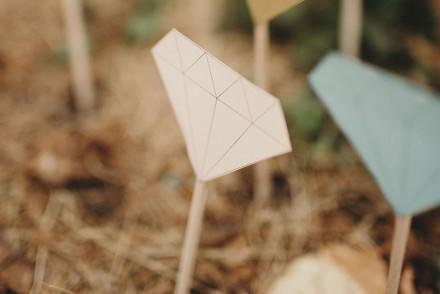 DIY Mariage - Des diamants en papier pour l'allée nuptiale