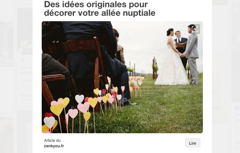 Idées originales pour décorer l'allée nuptiale