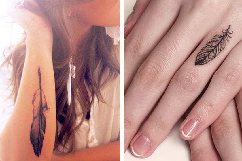 Tattoo plume