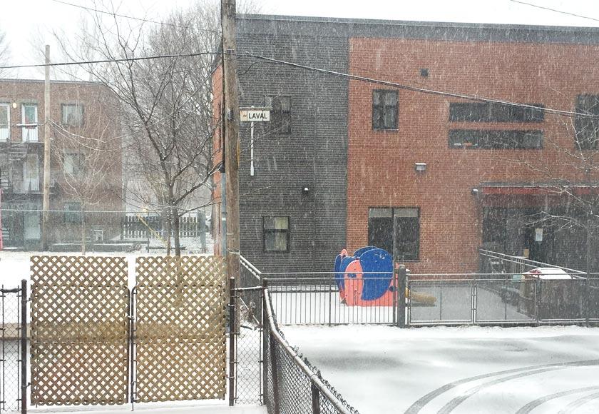 Neige en avril à Montréal