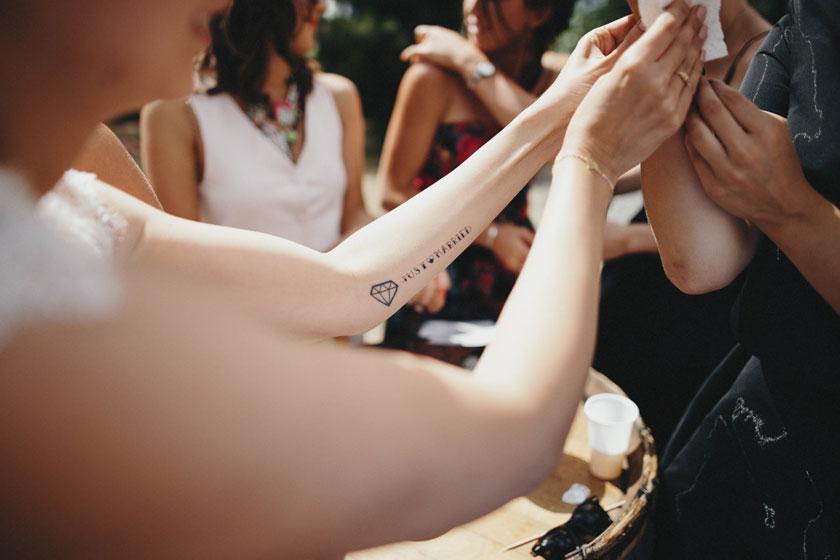 Tatouage diamant sur le bras