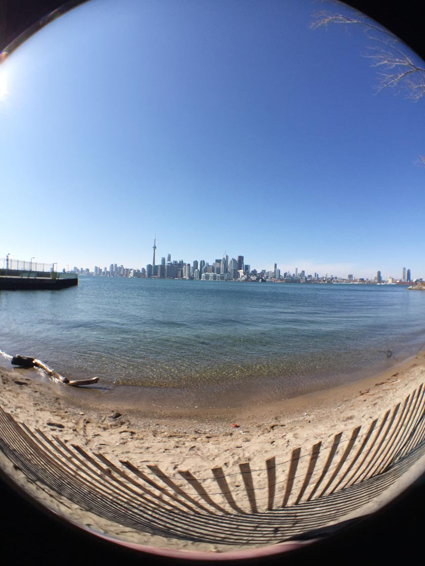 Toronto in a fish eye