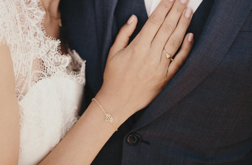 Bracelet à motif diamant