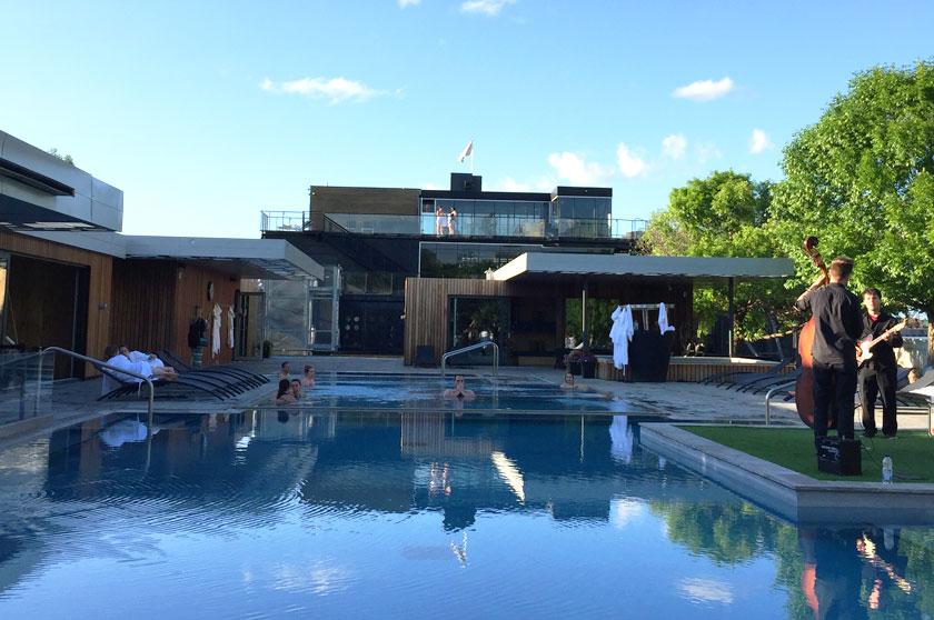5@7 aux jardins du spa Bota Bota (Montréal)