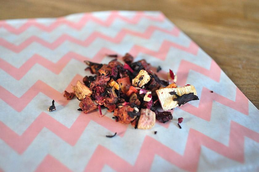 Parfait fraise-rhubarbe, David's Tea