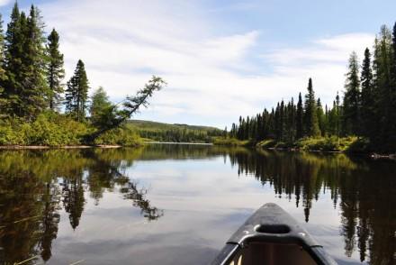 Canot au Parc des Grands Jardins (Québec)