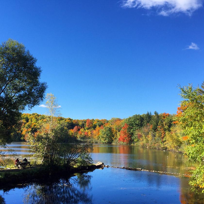L'automne au Mont-Saint-Bruno (Québec)