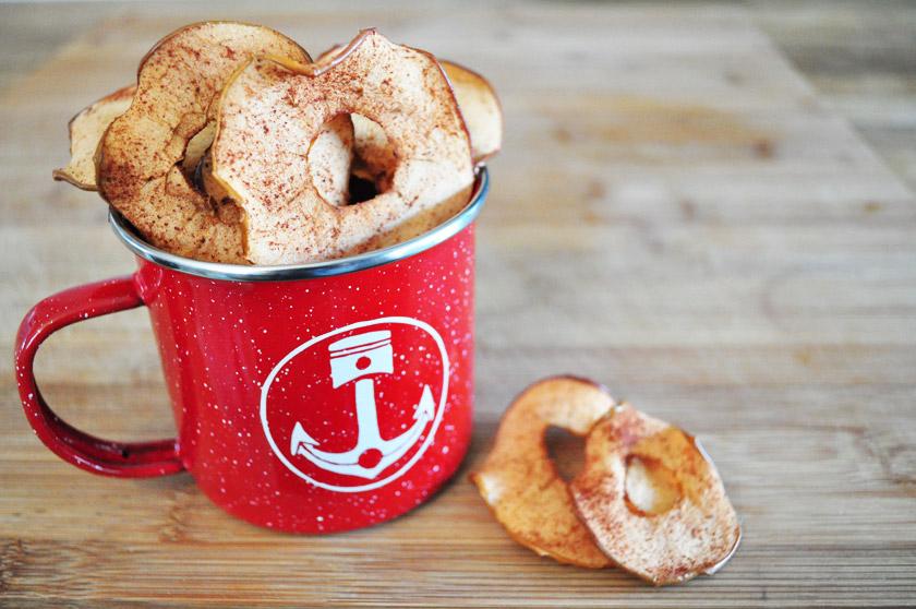 Recette de chips de pommes à la cannelle